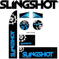 "Slingshot 6"" Die-Cut SPIKY Ball Sticker (pkg of 25)"