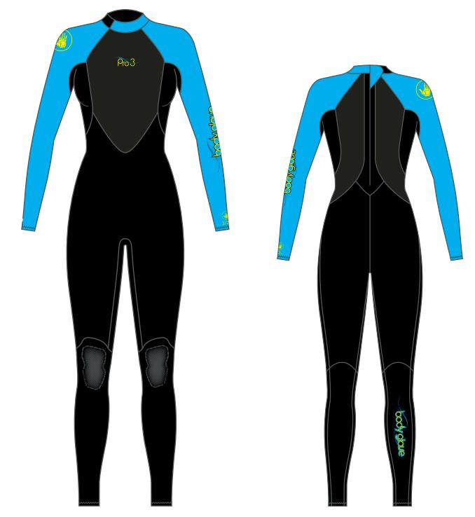 Женский гидрокостюм Body Glove 2015 Pro3 3/2MM Fullsuit Blue