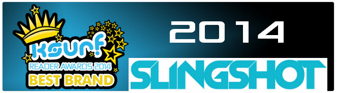 Ksurf reader awards 2014 Best Brand Slingshot Award