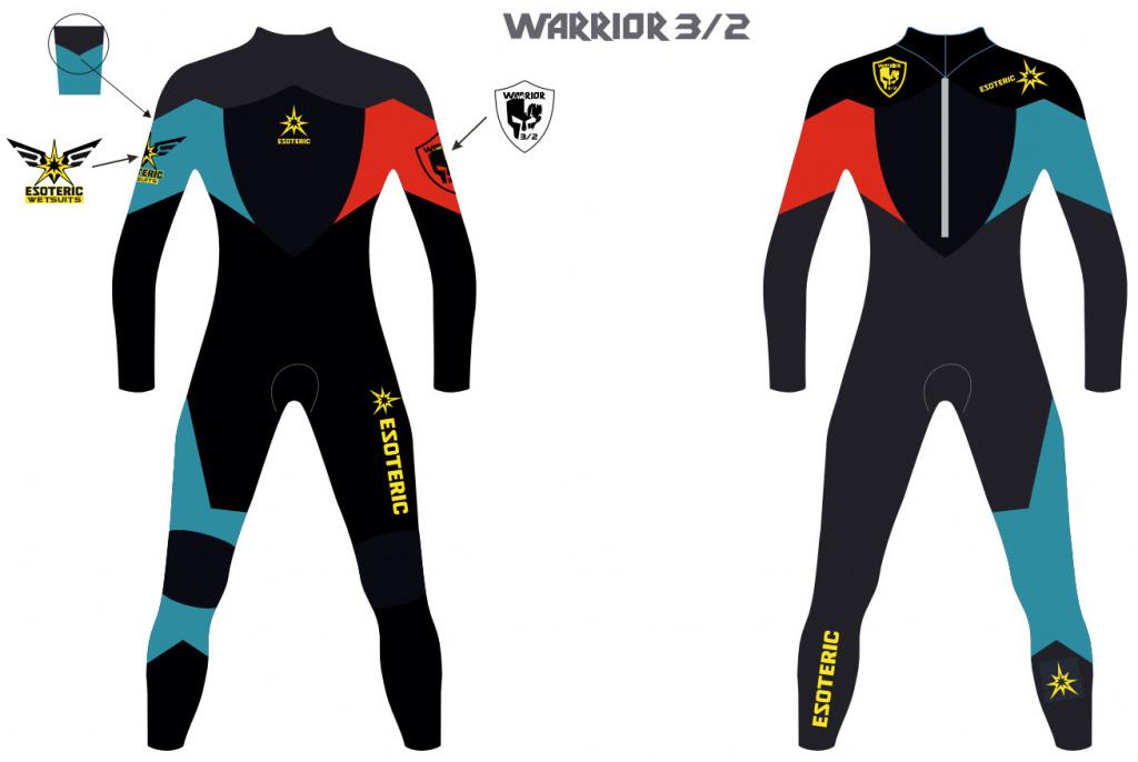 Гидрокостюм Esoteric Warrior 3/2 Fullsuit Men