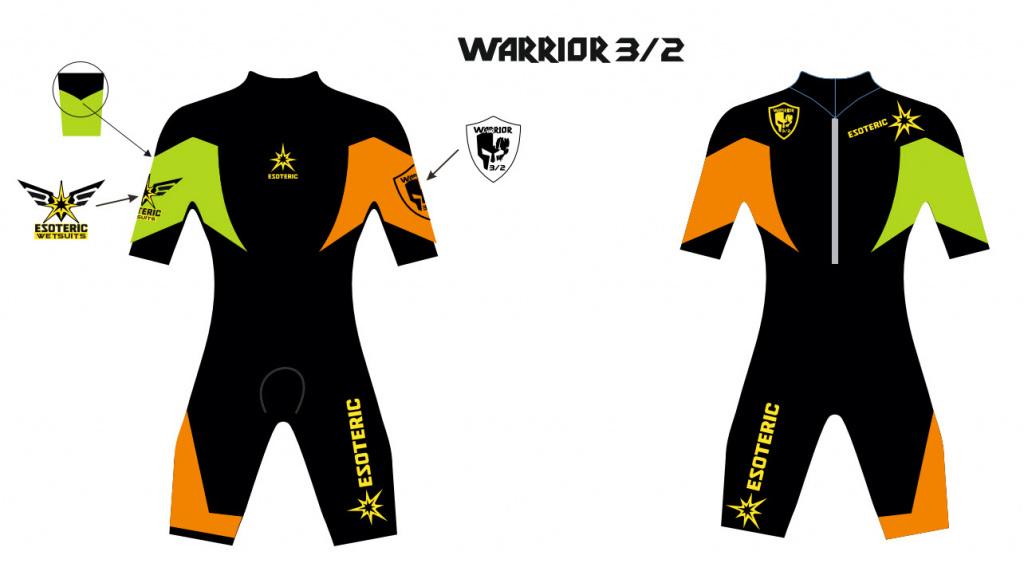 Гидрокостюм Esoteric Warrior 3/2 Shorty Men