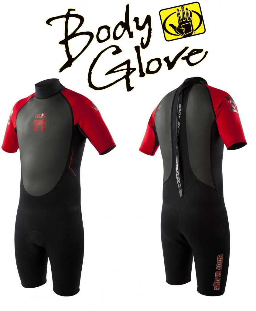 Короткий мужской гидрокостюм 2015 Pro3 2/1 Springsuit Shorty Red от компании Body Glove
