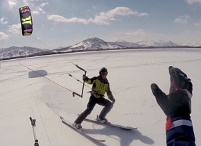 Winter Flight 2015 KiteTeam - Kamchatka