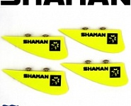 "Плавники Shaman 2"" Piranha G10 kiteboarding fin 50mm 4шт"